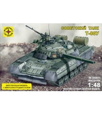 Модель танк т 80у 1:48 с микроэлектродвигателем Моделист 304871