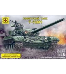 Модель танк т 72м1 1:48 с микроэлектродвигателем Моделист 304872