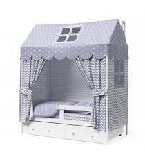 Кровать домик Можга Красная Звезда Р424 Э белый эмаль...