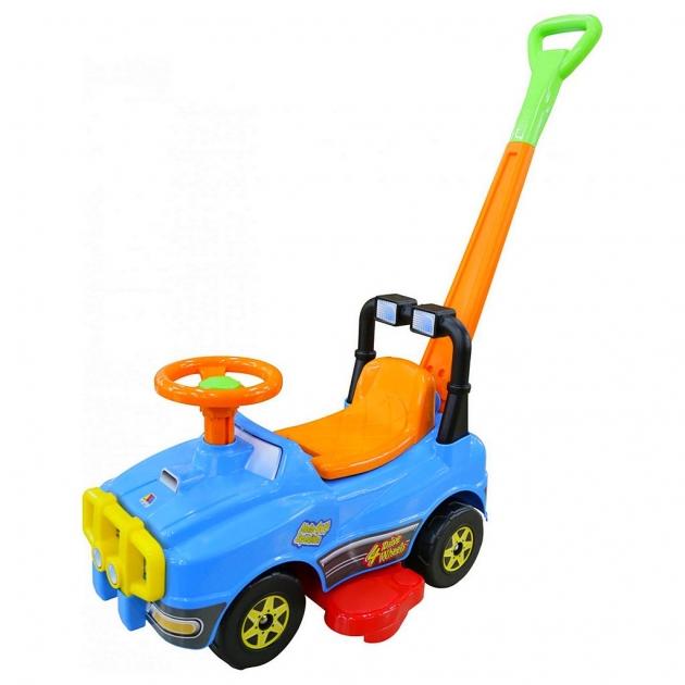 Автомобиль джип каталка Molto с ручкой 2 голубой 6703