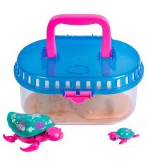 Черепашка с малышом в аквариуме Little Live Pets 28414