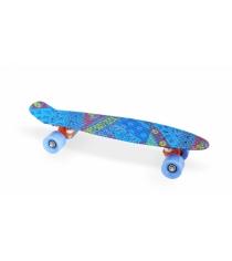 Скейт пластиковый 22х6 дюймов синий PP2206-18 blue Moove&Fun