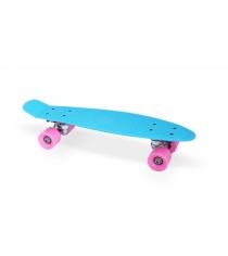 Скейт пластиковый 22х6 дюймов синий PP2206-1 blue Moove&Fun