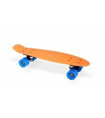 Скейт пластиковый 22х6 дюймов оранжевый PP2206-1 orange Moove&Fun
