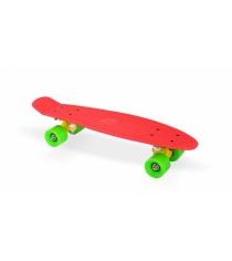 Скейт пластиковый 22х6 дюймов красный PP2206-1 red Moove&Fun