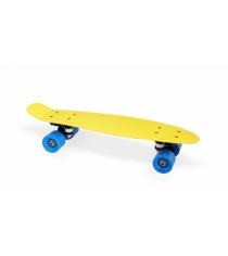 Скейт пластиковый 22х6 дюймов желтый PP2206-1 yellow Moove&Fun