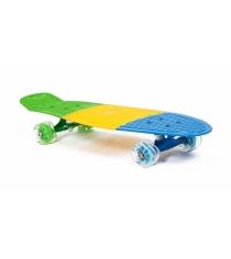 Скейт пластиковый трехцветный 27X8 дюймов PP2708-2 Moove&Fun