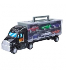 Кейс Motormax для машинок в виде грузовика и 6 машин 78128C