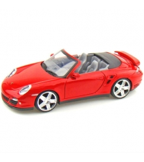 Motormax Porsche 911 Turbo Cabriolet в масштабе 1:24 красная