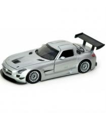 Motormax Mercedes Benz SLS АMG GT3 в масштабе 1:24 серебристая