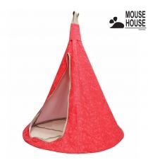 Гамак Mouse house цветы красные диаметр 140 см 6603