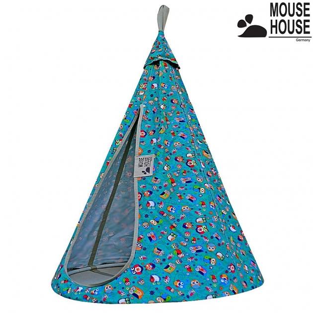 Гамак Mouse house совы бирюзовые диаметр 80 см 6616