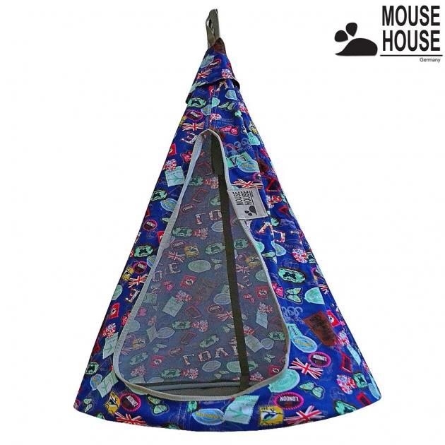 Гамак Mouse house бирки синие диаметр 80 см 6620