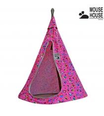 Гамак Mouse house совы розовые диаметр 80 см 6622