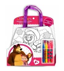 Сумочка для росписи маша и медведь Multi Art B1525859-ММ