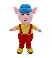 Мягкая игрушка Поросенок 26 см комбинезон кепка Мульти Пульти F9454-26C