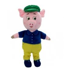 Мягкая игрушка Поросенок 26 см в костюме и кепке Мульти Пульти F9454-26B
