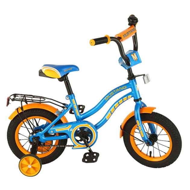 Детский велосипед 12 Mustang ky-тип синий/оранжевый