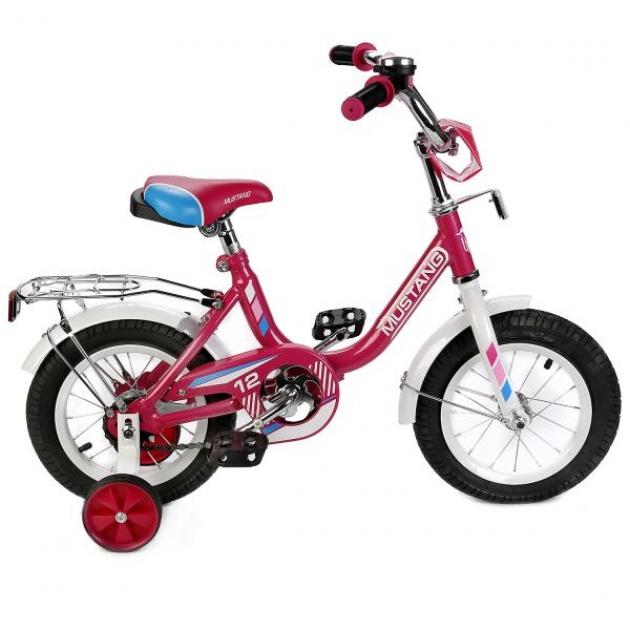 Детский велосипед 12 Mustang g-тип pозовый/белый