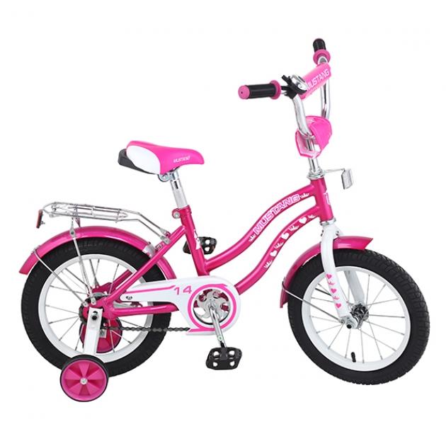 Детский велосипед Mustang ky-тип розовый/белый