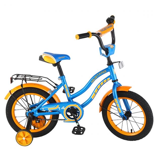 Детский велосипед 14 Mustang ky-тип синий/оранжевый