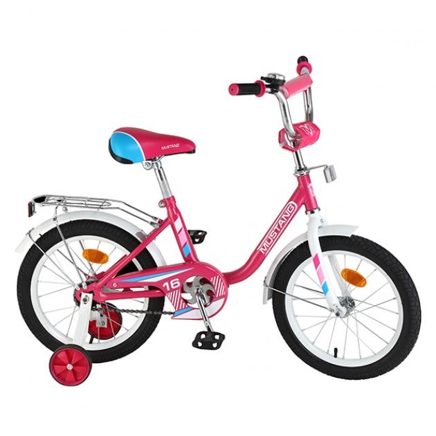 Детский велосипед 16 Mustang g-тип розовый/белый