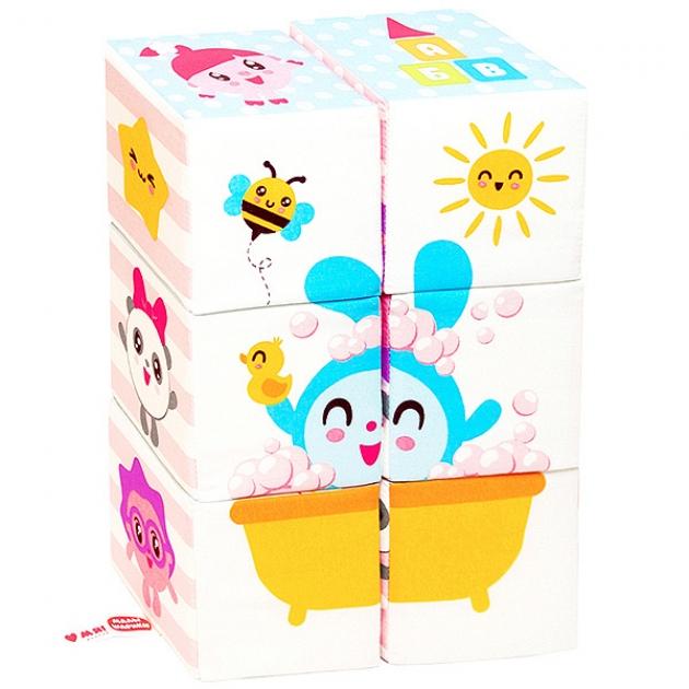 Мягкие кубики малышарики мультики Мякиши Р92576