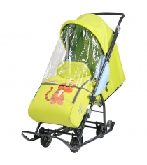 Санки коляска disney baby1 цвет лимонный рисунок тигруля Ника DB1/3