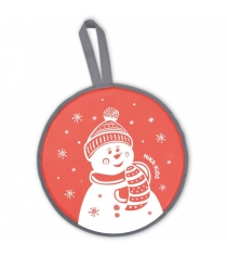 Ледянка Nika Л40 со снеговиком красный