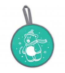 Ледянка Nika Л40 с медвеженком зеленый