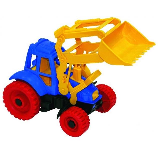 Пластиковая игрушка трактор с ковшом Нордпласт Р27697