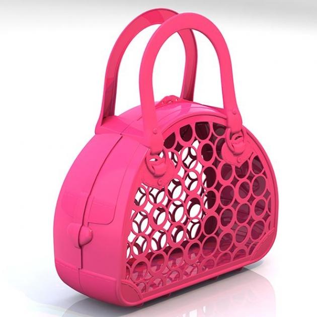 Сумка корзинка розовая Нордпласт Р71418