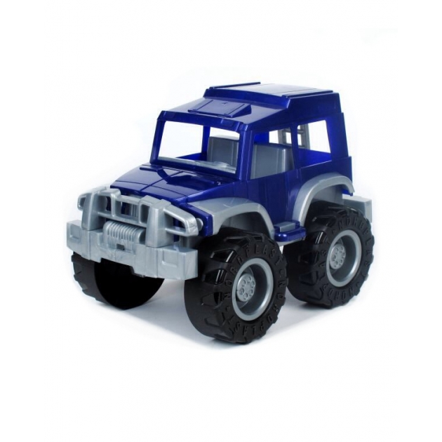 Игрушечный джип охотник синий Нордпласт Р48665