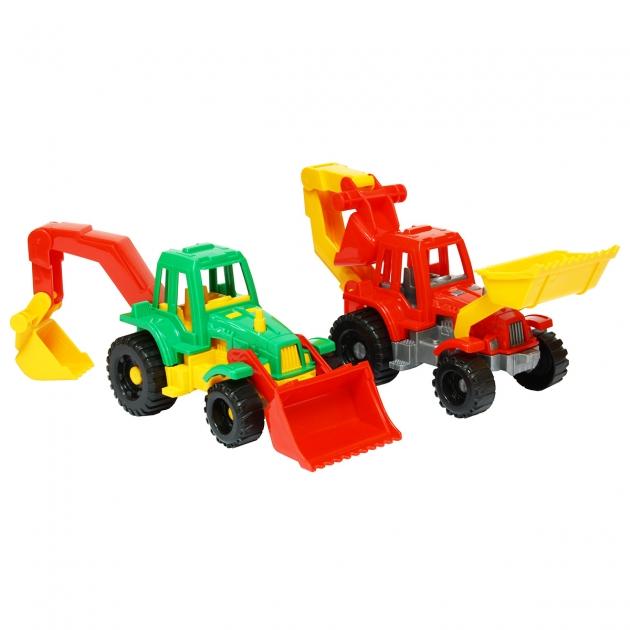 Трактор ижора с грейдером и ковшом Нордпласт Р41511