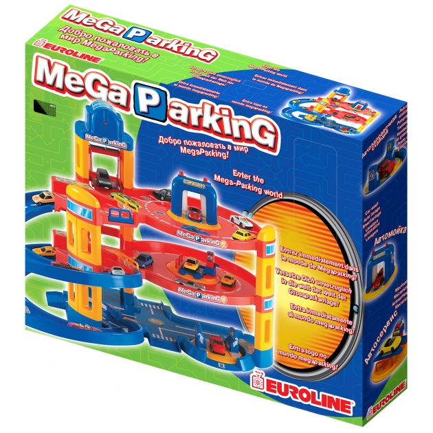 Игровой набор мега паркинг с 5 машинками Нордпласт Р28582