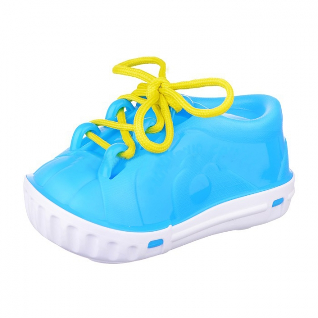 Развивающая игрушка шнуровка ботинок голубой Нордпласт Р77383
