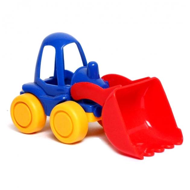 Игрушечный трактор нордик синий с желтыми колесами Нордпласт Р73269