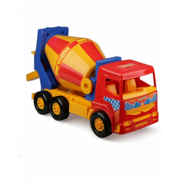 Машина бетономешалка таурус желто красная Нордпласт Р27796