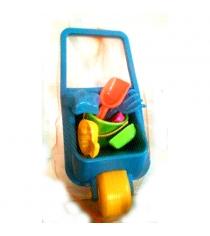 Набор для игры в песочнице 18 с зеленым ведерком Нордпласт зеленое_ведерко