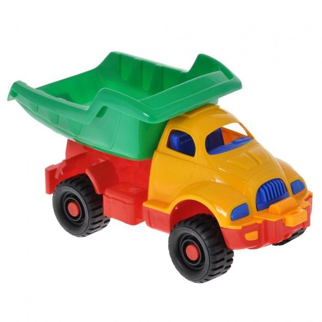 Игрушечный грузовик космический желто зеленый Нордпласт Р19014