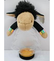 Конфетница овечка мальчик 30 см Новогодняя сказка 93999
