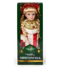 Кукла фарфоровая снегурочка в красном 12 Новогодняя сказка 972032