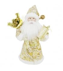 Кукла дед мороз 28 см золото Новогодняя сказка 973721