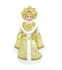 Кукла снегурочка 30 см золото Новогодняя сказка 973722