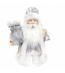 Кукла дед мороз 20 см серебро Новогодняя сказка 973726