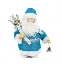 Кукла дед мороз 20 см синий Новогодняя сказка 973727
