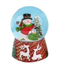 Шар декоративный новогодний 10 см Новогодняя сказка 973188