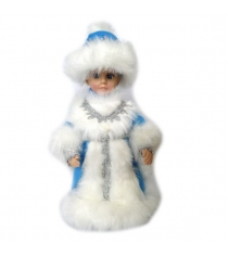Кукла музыкальная снегурочка в голубом 30 см Новогодняя сказка 973521