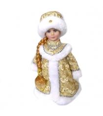 Кукла музыкальная снегурочка в золоте 30 см Новогодняя сказка 973526