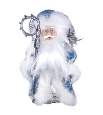 Кукла музыкальная дед мороз в голубом 30 см Новогодняя сказка 973522